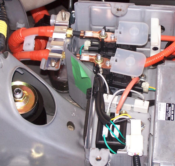 The Two Relays On Top Connect Orange Battery Wires Right To
